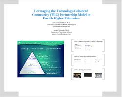 Leveraging the Technology Enhanced Community