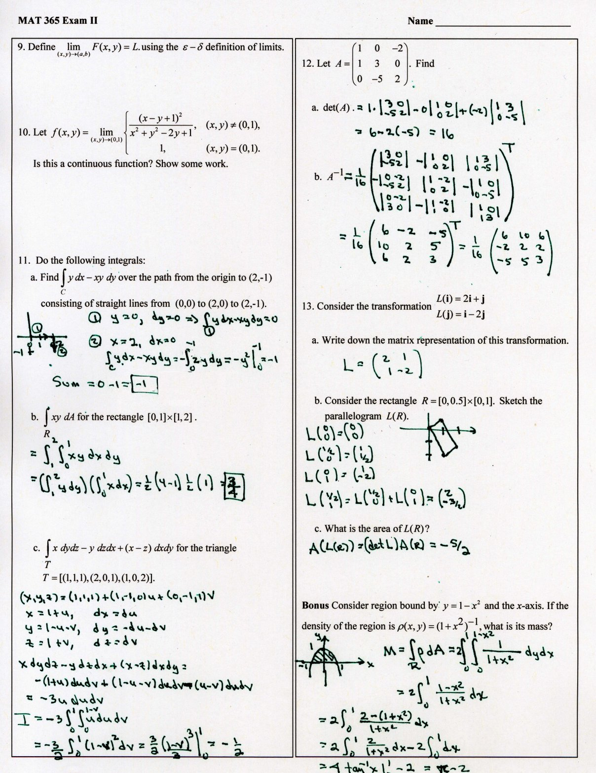 Materials Preface here are my online notes for my linear algebra course that i teach here at lamar university. people server at uncw