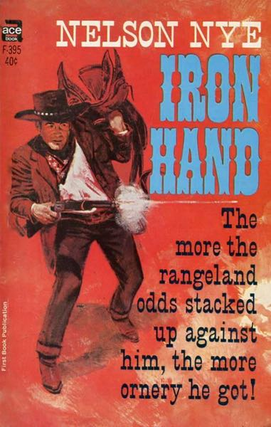 Western Book Cover Art : Ace western series letter number singles